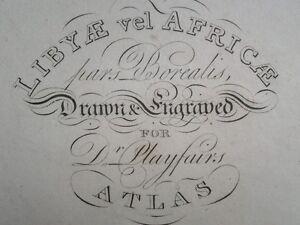 1821 LARGE ANCIENT MAP OF LIBYA & LIBYAE AFRICA AFRICAE PARS BOREALIS HAND COL