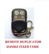 TAU SLIM, 250BUG, 250TXD garage door remote control duplicator fixed code 434