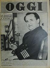 OGGI N°3/ 17/GEN/1952 *IL CAPITANO KURT CARLSEN - ANA FIGUEROA - LINDA DARNELL