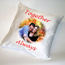 PERSONALISED SATIN CUSHION - ANY PHOTO - ANY TEXT GIFT!