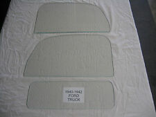 FORD PICKUP TRUCK 1940 1941 1942 LEFT AND RIGHT DOOR GLASS AND BACK GLASS CLEAR