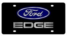 New Ford Edge Blue Logo Acrylic License Plate