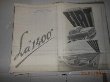Fiat 1400 omaggio dal centro storico fiat libretto uso e manutenzione d'epoca