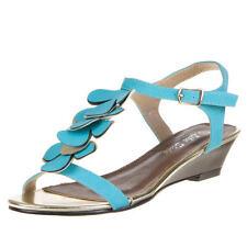 Damen-Sandalen & -Badeschuhe mit Keilabsatz/Wedge aus Kunstleder für Business