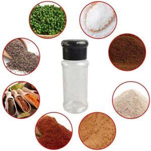 12Pcs/Set 100ml Plastics Spice Jars - Empty Seasonings Bottles For Spice Herbs