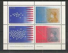 IRELAND 1976 BI-CENT AMERICAN REVOLUTION MINISHEET SG,MS395 U/M NH LOT 2557A