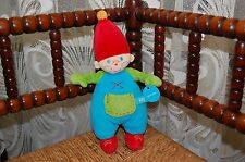 Lief Babywear Dwarf Boy Gnome Soft Newborn Baby Toy Mint New In Bag 11 inch