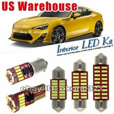 4-pc Luxury White LED Lights Interior Package Dome Kit  Fit Scion FRS 2013-2016