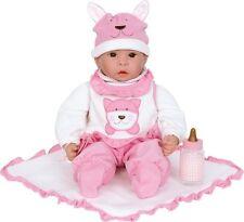 Baby Puppe Emilia mit Zubehör rosa Mädchen weicher Körper  Legler 2735 neu