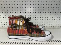 RARE Converse Chuck Taylor All Star Hi Womens Athletic Shoes Size 9 Plaid