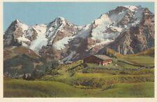 AK A5858 Alphütte im Berner Oberland mit Eiger, Mönch und Jungfrau