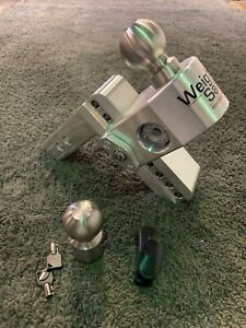 WS 6-2 Aluminum Trailer Hitch With Stainless Steel Tow Balls