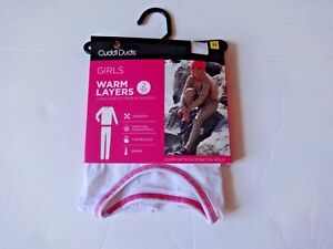 Climate Smart girls Cuddl Duds crew top and bottoms Set size M 7/8 thumbholes