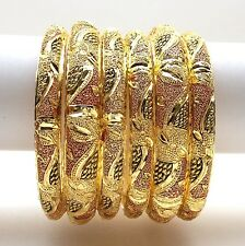Indian Bangles Size:2.8 22ct GoldPlated Asian Bridal Jewellery Party Ethnic Wear