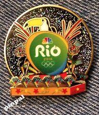 2016 Olympic NBC Media Pin Badge~Rio de Janeiro Logo~Carnival 3D~Toucan~Bird