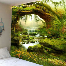 Large Mystic Trees Creek River Print Tapestry Wall Hanging Bedspread  Decor