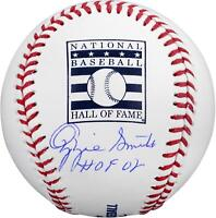 Autographed Ozzie Smith St. Louis Cardinals Signed Hall of Fame Baseball w/Insc