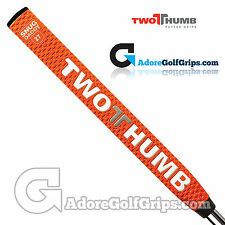 2 Thumb Snug Daddy 27 Putter Grip - Orange / White / Silver + Free Tape