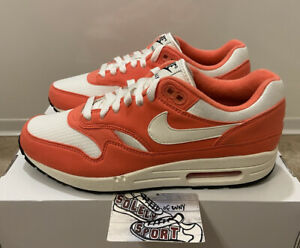 New Nike ID Air Max 1 Leather White Coral Running Shoes By You Mens Size 8
