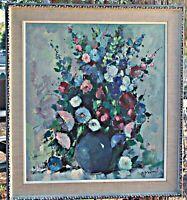 Original Oil, Floral, by Listed Artist Paul Morro, (German, 1925-2013) Framed