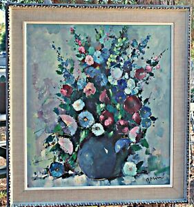 Original Oil, Floral, by Listed Artist Paul Morro, (German, 1925-2013) Framed