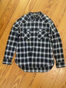 RRL double RL ralph lauren mens Rare Western Plaid Shirt Size XL