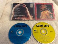 LEON RUSSELL LEON LIVE 2 X CD RARE OOP