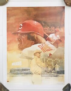 """Vintage 1985 Original Pete Rose 4192 Hits Record Wheaties Poster 24""""x18""""  FAST!"""