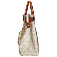 Michael Kors Bag 30S2GHMT3L MK Hamilton Large Signature PVC NS Tote Vanilla Agsb
