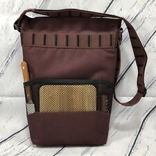 Picnic Time Insulated Wine Bread Cheese Cooler Bag Tote Maroon Black Accessories