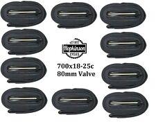 TUBES 10x   700c 18/25 innertube 80mm valve 700c long valve presta    80mm valve