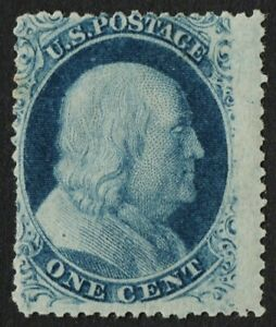 "US Sc# 24 Var *MINT OG H* { 1c BEN FRANKLIN } ""SCARCE TYPE Va"" FROM 1857 SERIES"