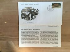 SOUTH AFRICA RSA 1976 FDC WWF AFRICAN BLACK RHINOCEROS