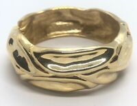 Vintage Bracelet Bangle Cuff Hinged Gold Tone 6.5""