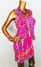 Jennifer Lopez XS Stretch NWT $60 Sleeveless Mini Dress Printed Multi Color JLo
