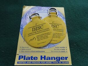 Invisible English Disc Adhesive Large Plate Hanger Set 4 - 2 Inch Hangers