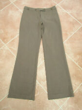 Next - Womens Taupe Mix Smart Straight Trousers - size 8L