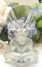 LOVELY SIGNED CZECH ART DECO CRYSTAL CUT PERFUME BOTTLE #4