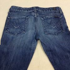 Ladies 7 For All Mankind Straight Leg jeans Sz 28 Free Shipping              402
