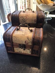 Set Of 2 Vintage Storage Chests/boxes