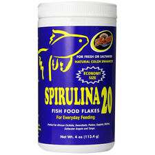 ZOO MED - Spirulina 20 Fish Food Flakes - 4 oz. (113.4 g)