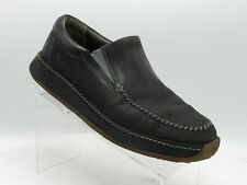 Skechers 4101 Size 10.5M Black Leather Slip On Stitched Casual Loafer Mens Shoes