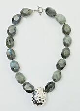 Simon Sebbag Sterling Silver Faceted Labradorite Necklace w/pendant PN584/LABN