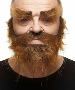 High quality Realistic Traper fake, self adhesive beard, mustache and eyebrows