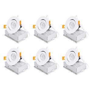 MingBright 6Pack 3'' 4'' Modern Adjustable LED Recessed Light Ceiling Spotlight