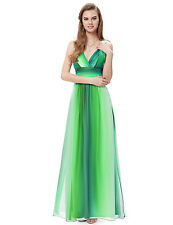 """""""LAYLA"""" STUNNING LADIES SIZE 18 TWO TONE GREEN CROSSOVER EVENING GOWN DRESS BALL"""