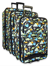 Dinosaur Dino Expandable 3 pc Piece Luggage Set for Travel Soft Sided Check In