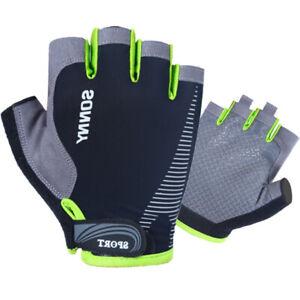 Men Women Half Finger Gel Pad Cycling Gloves for Fishing Riding Bike Bicycle