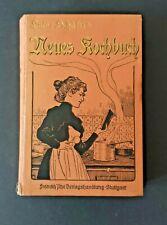 Tolles Jugendstil Kochbuch von Luise Schäfer's - neues Kochbuch - um 1900