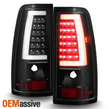 Fit 1999-2002 Chevy Siverado 1999-2006 GMC Sierra Black LED Tube Tail Lights